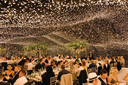 mariage guirlande lumière et luxe