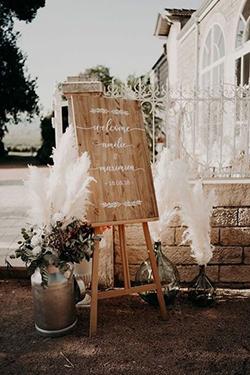 tableau d'accueil mariage bohème