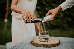 couple rituel de cérémonie laïque, rituel du sable