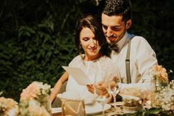 les mariés et le menu