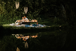 décoration table mariage d'inspiration bohème chic et nature