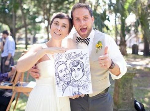 Caricaturste artiste animation mariage vin d'honneur
