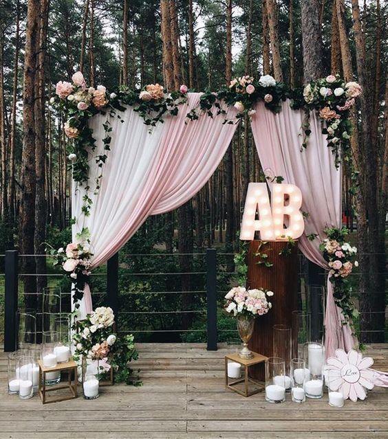 arche laïque drapée mariage cérémonie laïque