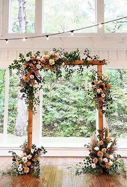 Arche rectangulaire fleurie