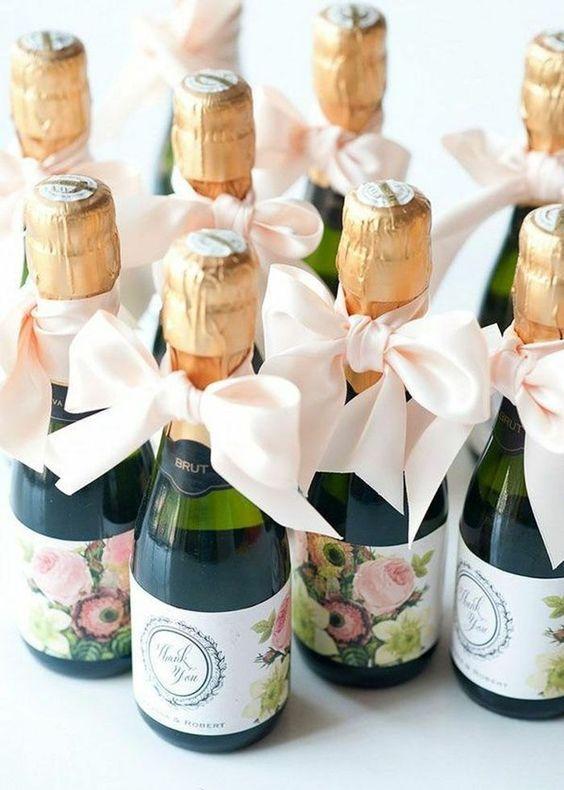 Mini bouteille champagne cadeaux invités