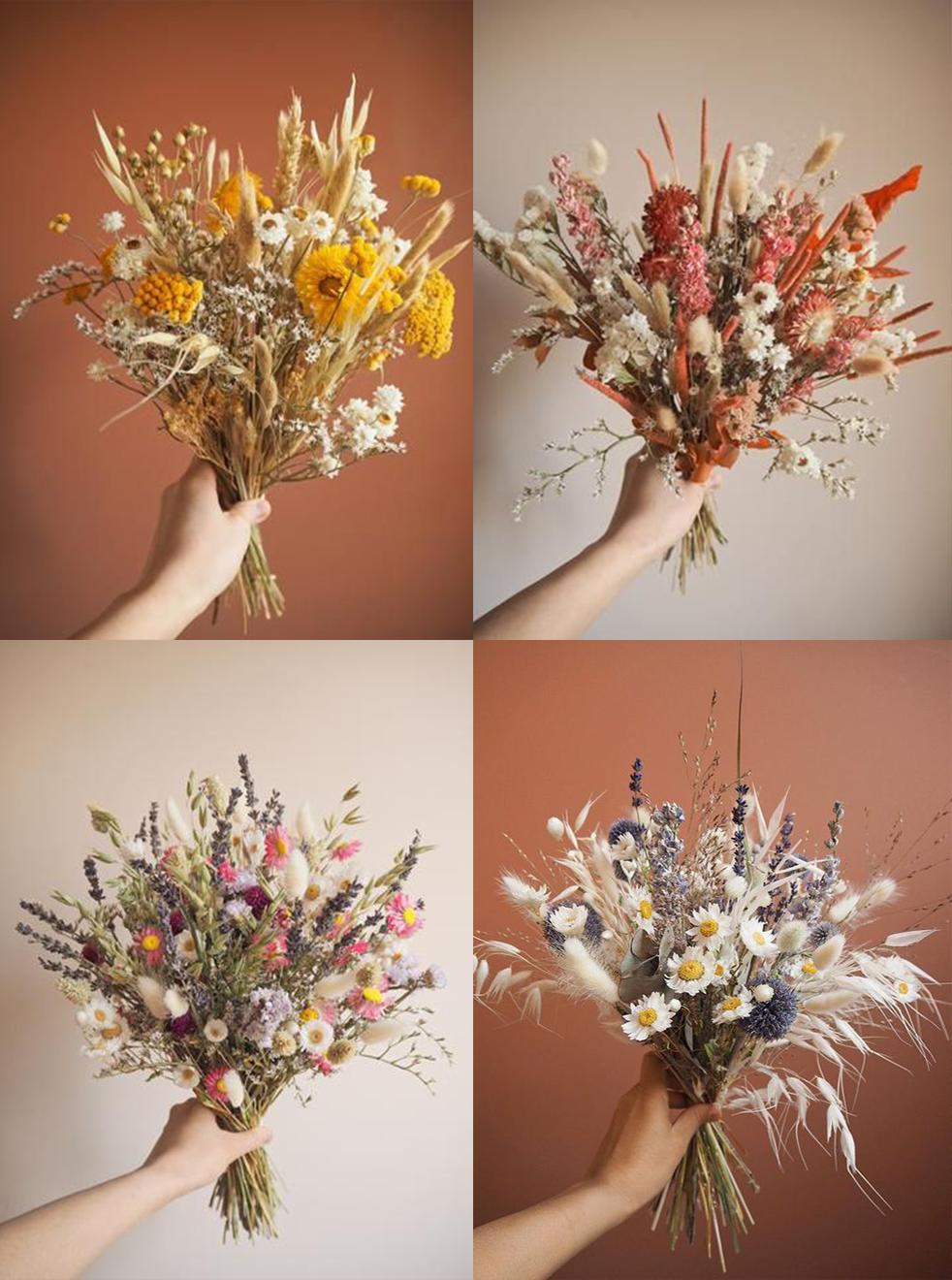fleurs bouquets compositions florales inspiration bohème