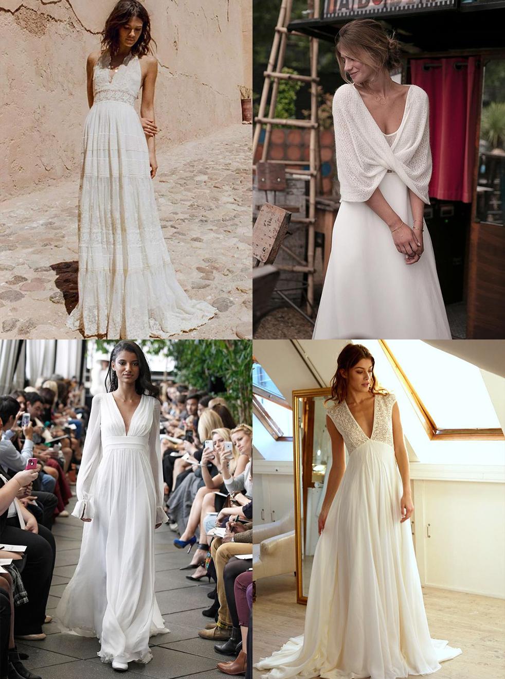 robes de mariée inspiration mariage bohème