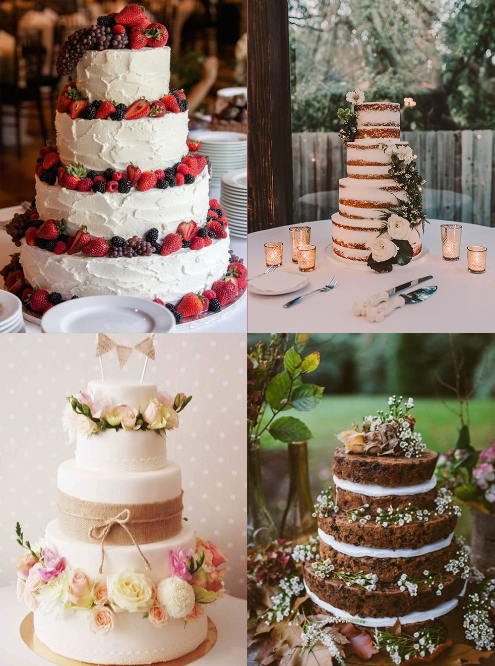 Wedding cake inspiration rustique