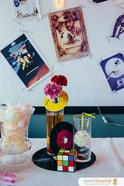 Décoration de candy bar pour un mariage pop et coloré