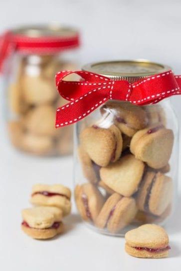 Bocal à biscuit pour la Saint Valentin