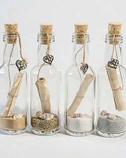 Faire-part de mariage en bouteille