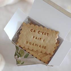 biscuits personnalisés mariage