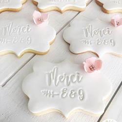 Biscuits personnalisés cadeaux mariage