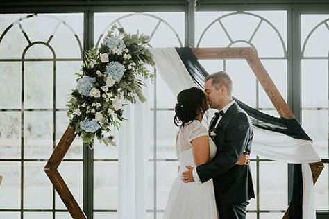 Blog - Baiser de fin lors d'un mariage laïque
