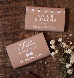 tablette de chocolat personnalisé
