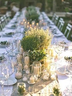 Centre de table naturel avec bougies