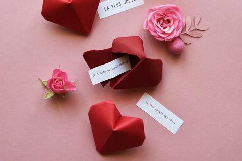 Blog - Image avec coeur pour la Saint Valentin et messages d'amour