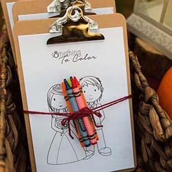 kit de coloriage mariage