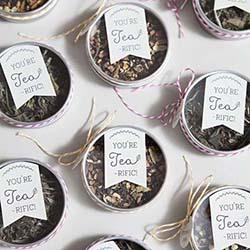 petites boite de remerciement thé
