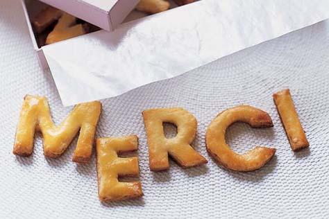 Blog - Biscuits lettres MERCI