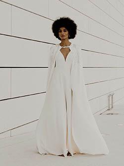 robe de mariée avec cape amovible