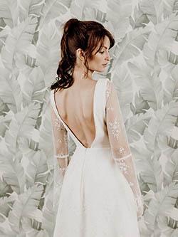 robe mariée dos nu et tulle