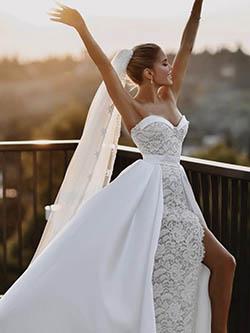 robe de mariée avec surjupe amovible
