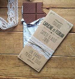 tablette de chocolat personnalisé mariage