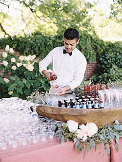 server pour bar mariage
