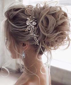 bijoux, coiffure, mariée, perle, accessoire