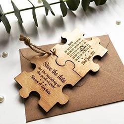 Faire-part de mariage en puzzle