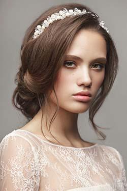 coiffure, visage, carré, mariée