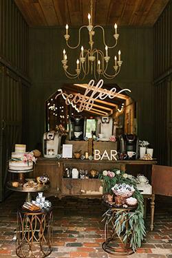 bars à café mariage ou brunch