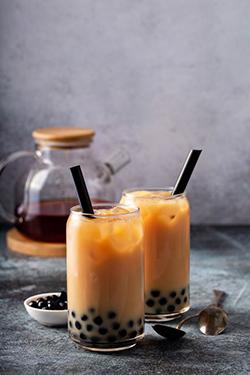 bubble tea thé au lait noir