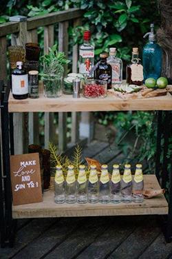 Bar à cocktail différents pour mariage