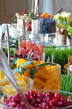 fruits frais découpés pour bars à smoothie mariage