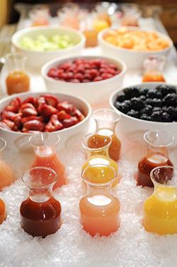 Fruits frais pour bars à smoothie mariage
