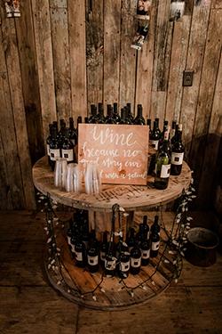 bars à vin champêtre en touret