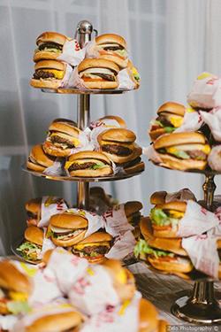Bar à burger pour mariage