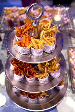 Bar à frites et patates douces pour mariage