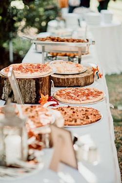 Bar à pizza mariage