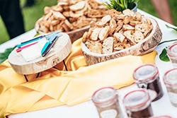tartinades et tartines de pain pour vin d'honneur mariage