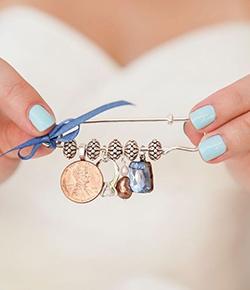 Porter un objet bleu pour son mariage