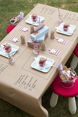 Décoration table enfant mariage