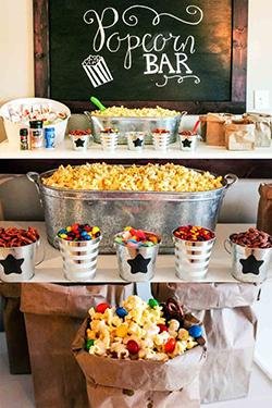 Buffet de pop corn mariage