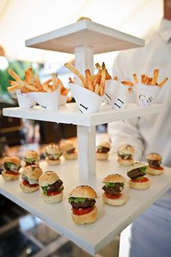Bar à mini burger et frite