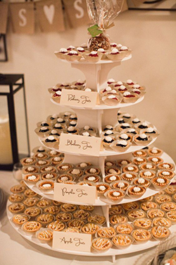 mini tartes présentation mariage